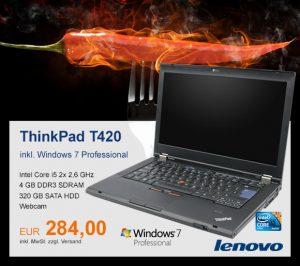Top-Angebot: Lenovo ThinkPad T420 nur 284 €