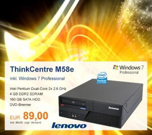 Top-Angebot: Lenovo ThinkCentre M58e nur 89 €