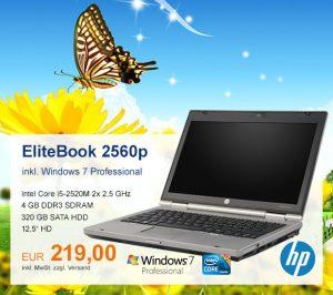 Top-Angebot: HP EliteBook 2560p für 219 €