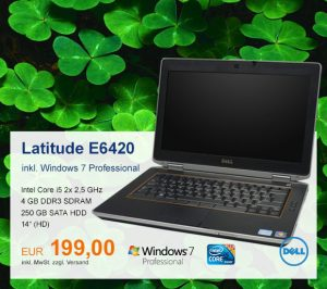 Top-Angebot: DELL Latitude E6420 nur 199 €