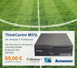 Top-Angebot: Lenovo ThinkCentre M57p nur 69 €