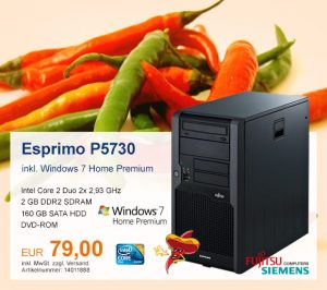 Top-Angebot: Fujitsu Siemens Esprimo P5730 nur 89 €