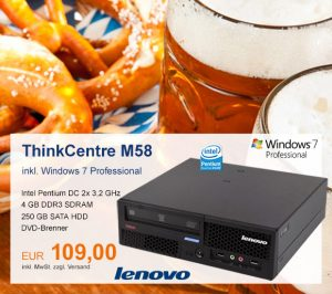 Top-Angebot: Lenovo ThinkCentre M58 nur 109 €