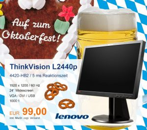 Top-Angebot: Lenovo ThinkVision L2440p nur 99 €
