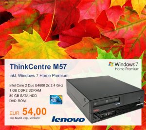 Top-Angebot: Lenovo ThinkCentre M57 nur 54 €