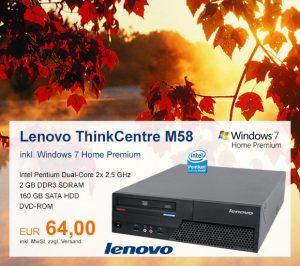 Top-Angebot: Lenovo ThinkCentre M58 nur 64 €
