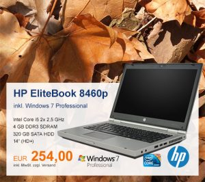 Top-Angebot: HP EliteBook 8460p nur 254 €