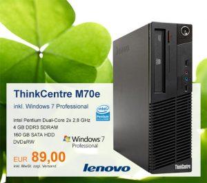 Top-Angebot: Lenovo ThinkCentre M70e nur 89 €