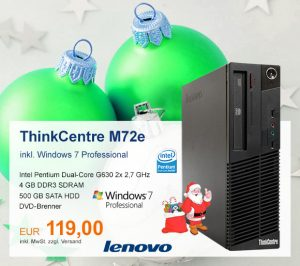 Top-Angebot: Lenovo ThinkCentre M72e nur 119 €