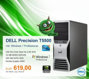Top-Angebot: DELL Precision T5500 nur 619 €