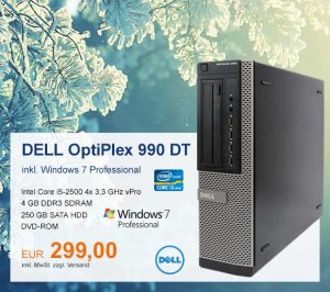 Top-Angebot: DELL OptiPlex 990 nur 299 €