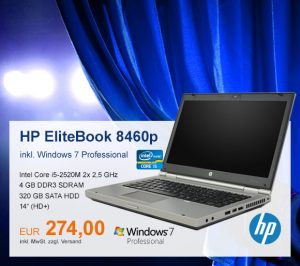 Top-Angebot: HP EliteBook 8460p nur 274 €