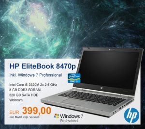 Top-Angebot: HP EliteBook 8470p nur 399 €