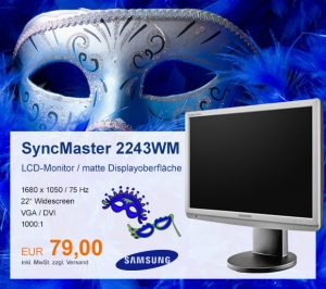Top-Angebot: Samsung SyncMaster 2243WM nur 79 €