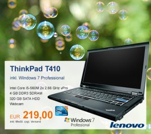 Top-Angebot: Lenovo ThinkPad T410 nur 219 €