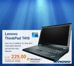 Top-Angebot: Lenovo ThinkPad T410 nur 229 €