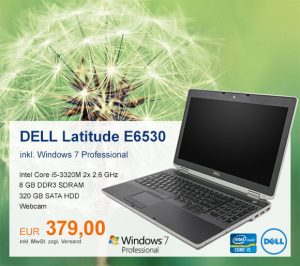 Top-Angebot: DELL Latitude E6530 nur 379 €