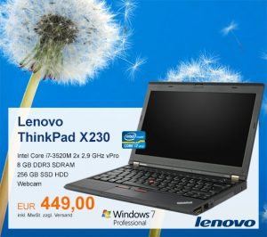 Top-Angebot: Lenovo ThinkPad X230 nur 449 €