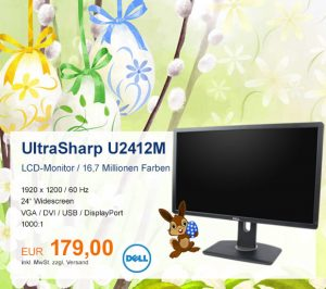 Top-Angebot: DELL UltraSharp U2412M nur 179 €