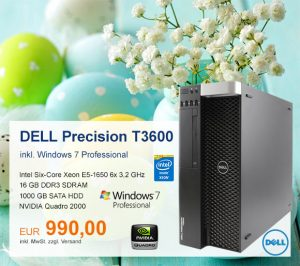 Top-Angebot: Dell Precision T3600 nur 990 €