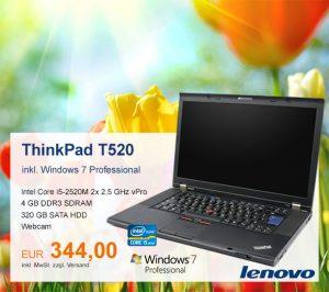 Top-Angebot: Lenovo ThinkPad T520 nur 344 €