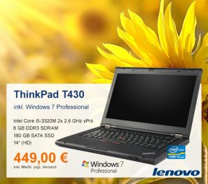 Top-Angebot: Lenovo ThinkPad T430 nur 449 €