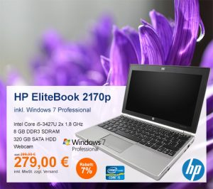 Top-Angebot: HP EliteBook 2170p nur 279 €