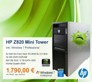 Top-Angebot: HP Z820 Mini Tower nur 1.790 €