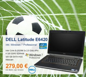 Top-Angebot: DELL Latitude E6420 nur 279 €