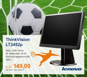 Top-Angebot: Lenovo ThinkVision LT2452p nur 149 €
