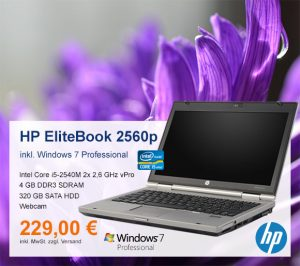 Top-Angebot: HP EliteBook 2560p nur 229 €
