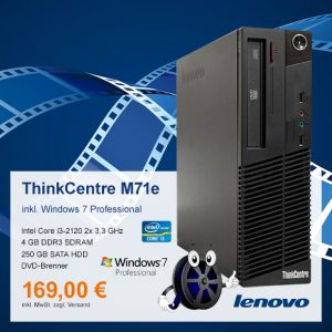 Top-Angebot: Lenovo ThinkCentre M71e nur 169 €