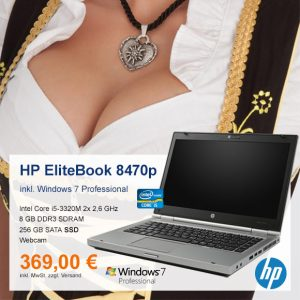 Top-Angebot: HP EliteBook 8470p nur 369 €