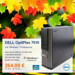 Top-Angebot: DELL OptiPlex 7010 SFF nur 264 €