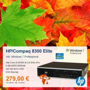 Top-Angebot: HP Compaq 8300 Elite nur 279 €