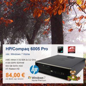 Top-Angebot: HP/Compaq 6005 Pro SFF nur 84 €