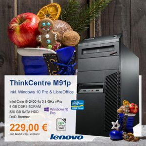 Top-Angebot: Lenovo ThinkCentre M91p nur 229 €