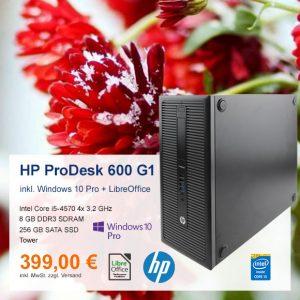 Top-Angebot: HP ProDesk 600 G1 nur 399 €