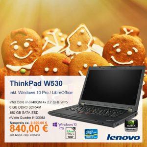 Top-Angebot: Lenovo ThinkPad W530 nur 840 €