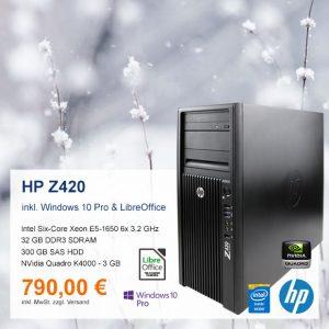 Top-Angebot: HP Z420 nur 790 €