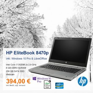 Top-Angebot: HP EliteBook 8470p nur 394 €