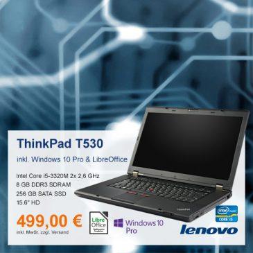 Top-Angebot: Lenovo ThinkPad T530 nur 499 €