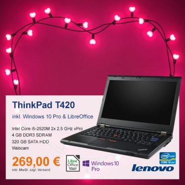 Top-Angebot: Lenovo ThinkPad T420 nur 269 €