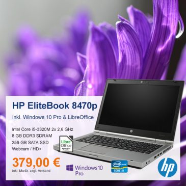 Top-Angebot: HP EliteBook 8470p nur 379 €