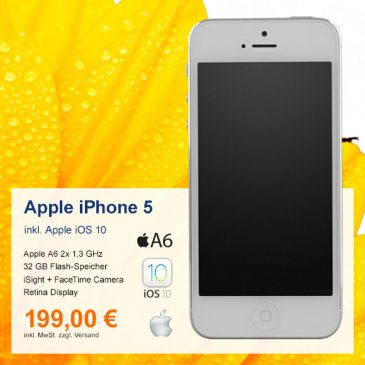 Top-Angebot: Apple iPhone 5 A1429 nur 199 €