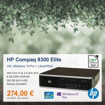 Top-Angebot: HP Compaq 8300 Elite nur 274 €