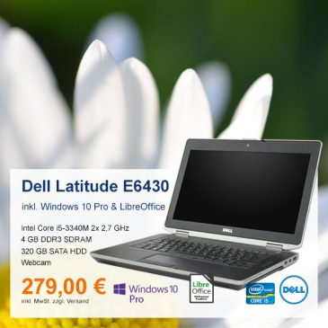 Top-Angebot: Dell Latitude E6430 nur 279 €