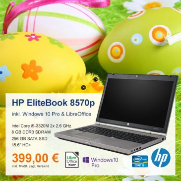 Top-Angebot: HP EliteBook 8570p nur 399 €