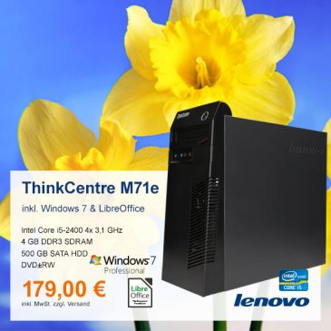 Top-Angebot: Lenovo ThinkCentre M71e nur 179 €
