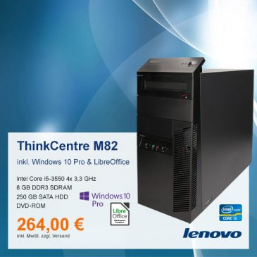 Top-Angebot: Lenovo ThinkCentre M82 nur 264 €